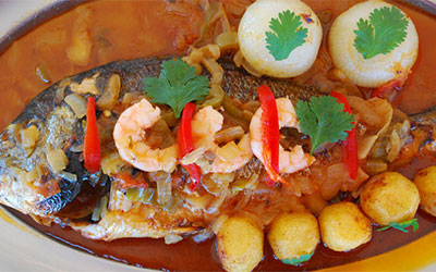 Gilt-Head Bream Portuguese Style